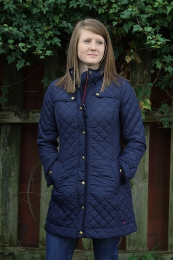Joules Navy Quilted Jacket The Flash Board