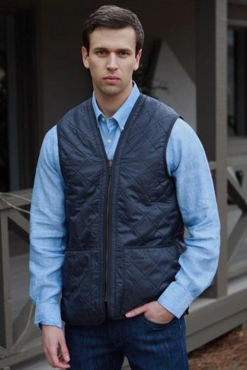 Barbour-polarquilt-waistcoat Zip-in-liner