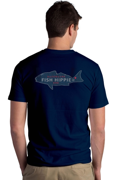 Fish Hippie Backwater Red SS Pocket Tee