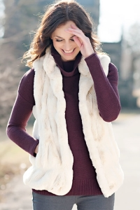 Couture Faux Fur Hook Vest