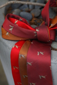 Flying Pheasant Textured Tie
